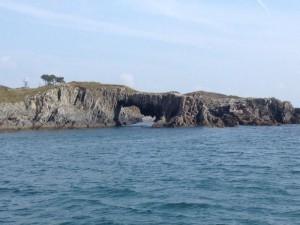 A sea arch on Skeame Island in Roaringwater Bay West Cork.