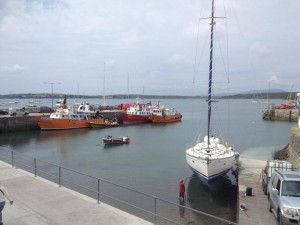 Ferries at the pier in Baltimore, West Cork