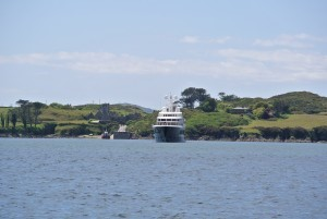 Air at anchor in West Cork, the luxury superyacht is reportedly on charter with George Clooney 2