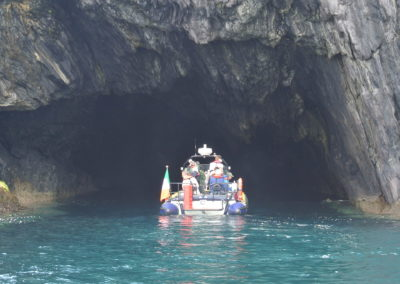 Boat trip into a cave near Baltimore West Cork