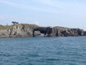 A sea arch on Skeame Island in Roaringwater Bay West Cork.