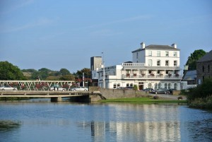 The West Cork Hotel on the banks of the Ilen river in Skibbereen