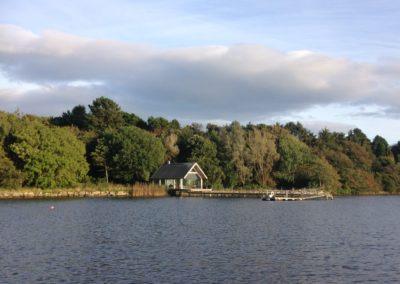 Glass boat house on the Ilen river near Skibbereen
